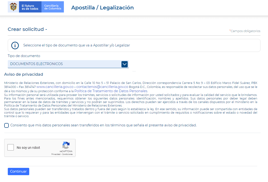 solicitud apostilla y legalización cancillería